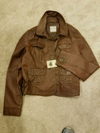 brown button-up jacket Beaumont, 92223