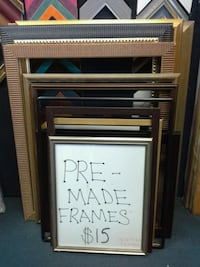 premade open back frames.   Springfield, 22150