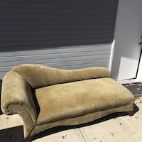 brown fabric padded sofa chair Vancouver, V6G