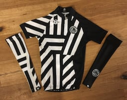 Cycling jersey + arm warmers