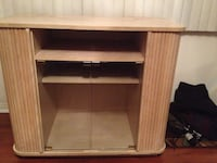 brown wooden TV stand with cabinet South Gate, 90280