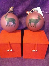 Reindeer Frosted Christmas Ornaments