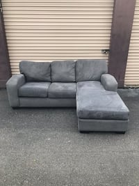 Gray Reversible Chaise Sectional  165 mi