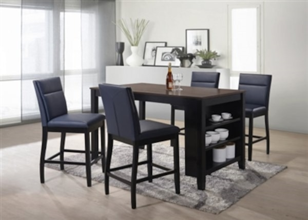 Lismore Collection 5 Piece Dark Brown Counter Height Dining Set NO CREDIT CHECK Financing Available