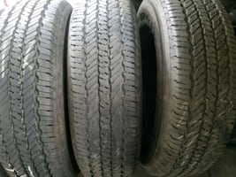 I have  4 used tires  225/75r17  LT General