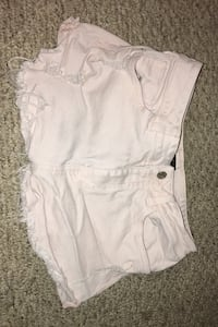 Forever 21 Distressed light pink shorts