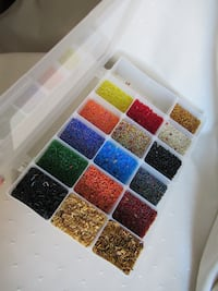 Craft Box With Multi-Colored Beads Burlington