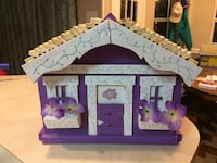 purple and white wooden house figure Grand Bay, 36541