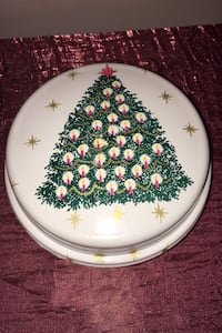 Round Christmas Tree Container for ornaments or cookies  Frederick, 21703