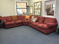 Red corner hide-a-bed couch Saint Johns, 32259