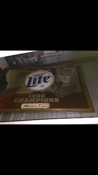 1998 Miller Lite Red Wings Championship Mirror