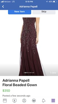 Adrianna Papell Floral Beaded Gown Liberty Township, 45044