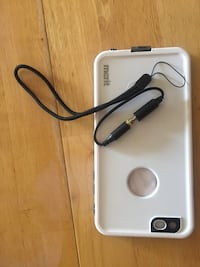 White and black merit iphone case and lanyard Central Elgin, N5P
