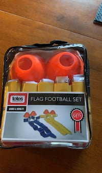 Flag football set never open