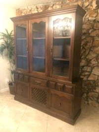 brown wooden framed glass display cabinet Las Vegas, 89110