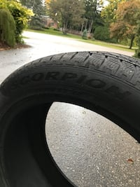 Selling 4 used 275/45 R21 Pirelli Scorpion winter tires London, N6H 5V2