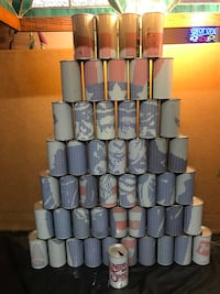 Vintage 50 State 7-up can collection