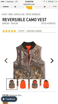 brown and gray real tree reversible camo vest screenshot Oakdale, 95361