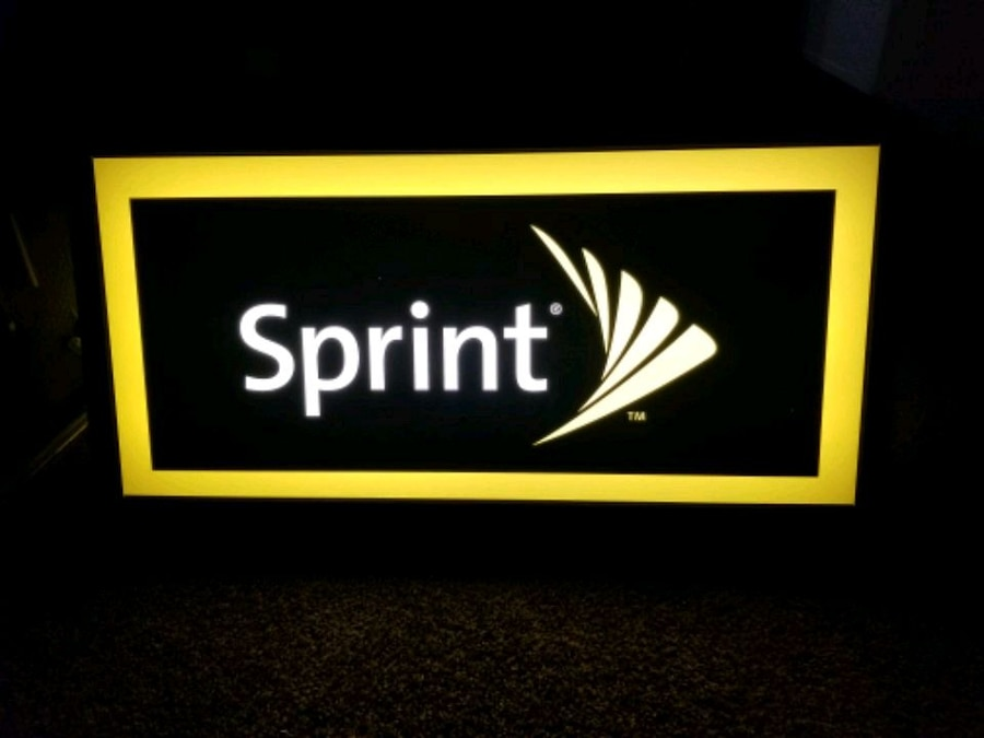 Photo SPRINT Wireless Double Sided Light Up Store Display Hanging Sign by TE