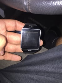 black and gray smart watch