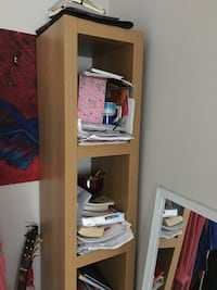 Very good condition bed with two boxes side and shelves book. Västerås, 724 67