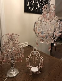 pink and white uplight chandelier Hamilton, L8J 0A3