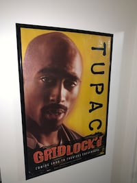 Tupac movie poster with frame