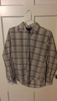 Brown and black plaid button-up long-sleeved shirt College Station, 77840