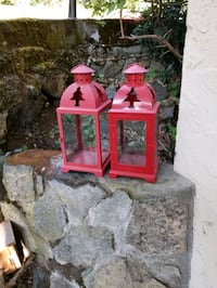 2 outdoor candle holders ex condition both for $8 Victoria, V9A 6A6