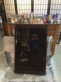 Shot Glass Collection W/ Cherry Display Cabinet Virginia Beach, 23456
