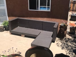 Patio furniture couch sectional
