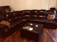 black leather tufted sectional sofa Woodbridge, 22191
