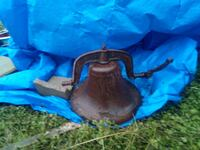 It's a antique cast iron farm bell Church Point, 70525