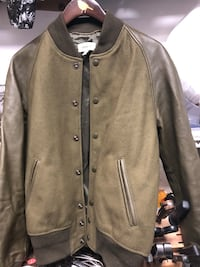 Coach green wool and leather varsity jacket sz 44 (s/m) Burnaby, V5G 3X4