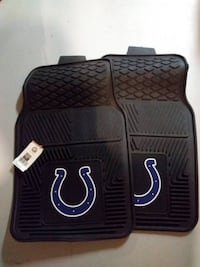 black Indianapolis Colts vehicle floor mats & new fleece
