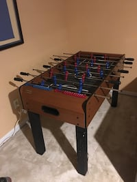 brown and blue foosball table Gaithersburg, 20877