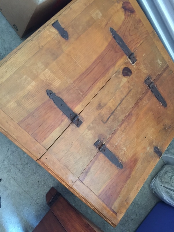 Used Solid Unfinished Wood Coffee Table With Storage For In Lawrenceville Letgo
