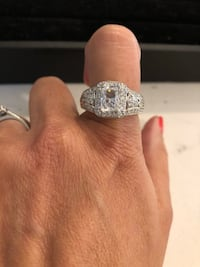 Gorgeous rhodium plated over sterling silver CZ Caledon, L7C 1P2