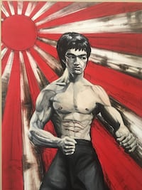 Bruce lee oil painting original one of a kind Nanaimo, V9T