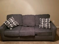 3 cushion couch with pillows Las Vegas, 89129