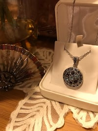 Beautiful! Silver genuine Marcasite Necklace with Crystal Stones  Gainesville, 20155