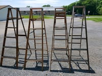 ( SPECIAL)Wooden  step ladder  6ft $30each