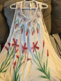 $10 only sheer one size fits all flowy dress with embroidery see pics  Burnaby, V5E