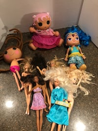 Lot of 9 Dolls Lalaloopsy Barbie Manassas, 20112
