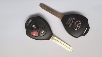 Two Remote Uncut Key Shell FOBs For Most Toyota Cars
