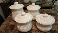 four white ceramic canisters Germantown, 20874