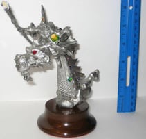 Pewter Dragon & Wizard Figurines