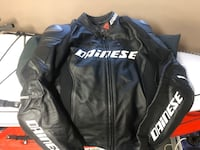 DAINESE leather motorcycle jacket + back protector
