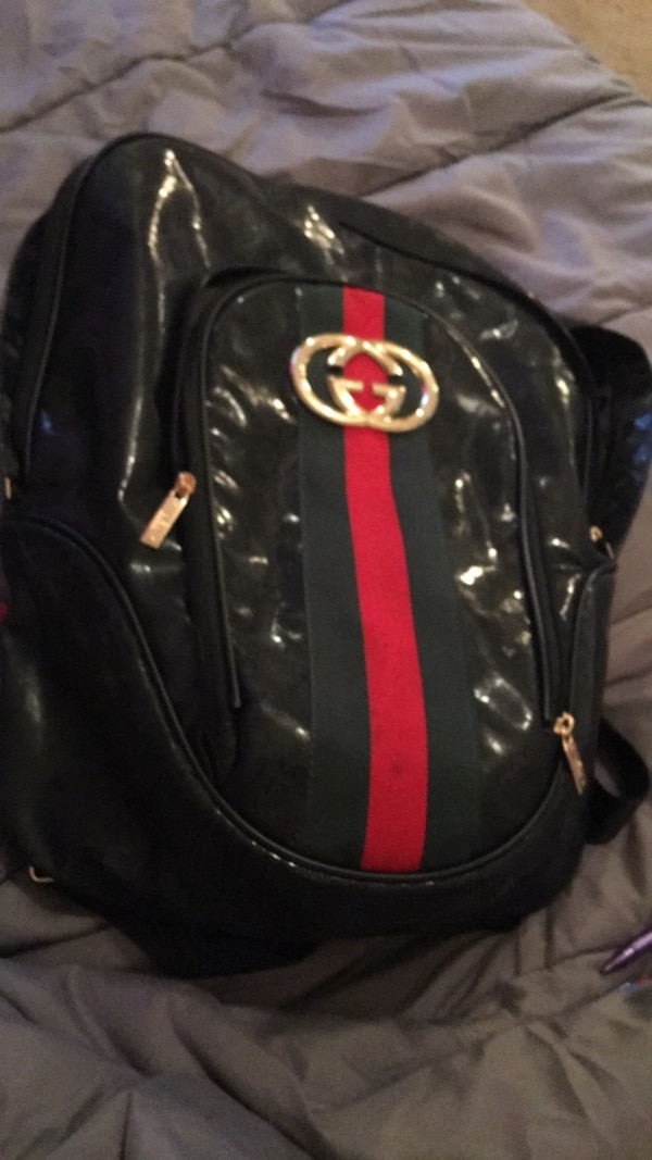 48a8ef1bb982 Used black and red Gucci leather backpack for sale in Dallas - letgo