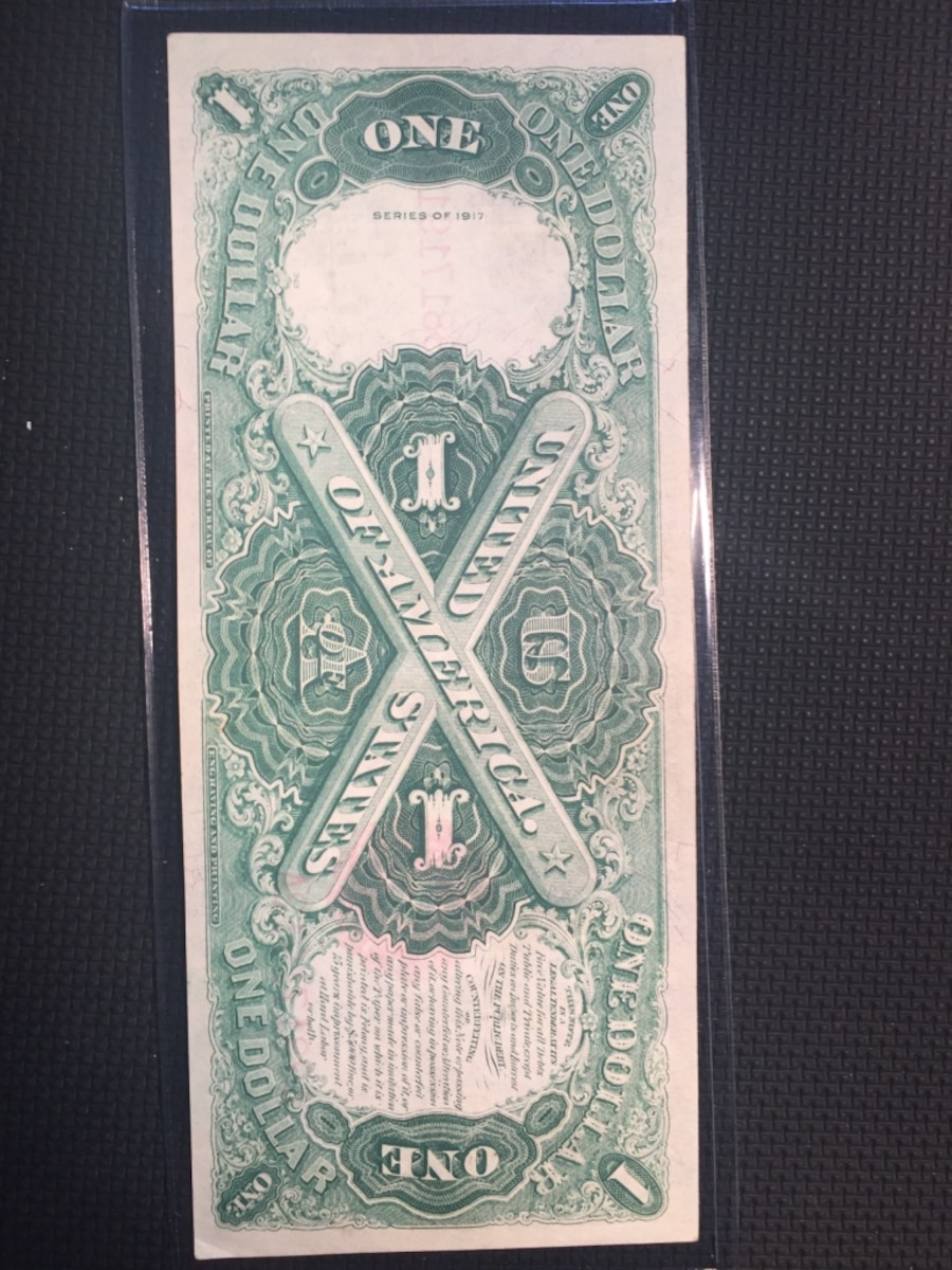 1917 $1  large size legal tender note.  - Trabuco
